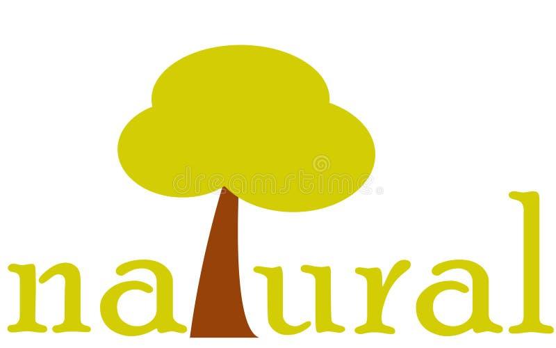 Natuurlijk teken met boom Vlak ontwerppictogram Milieu en landbouw stock illustratie