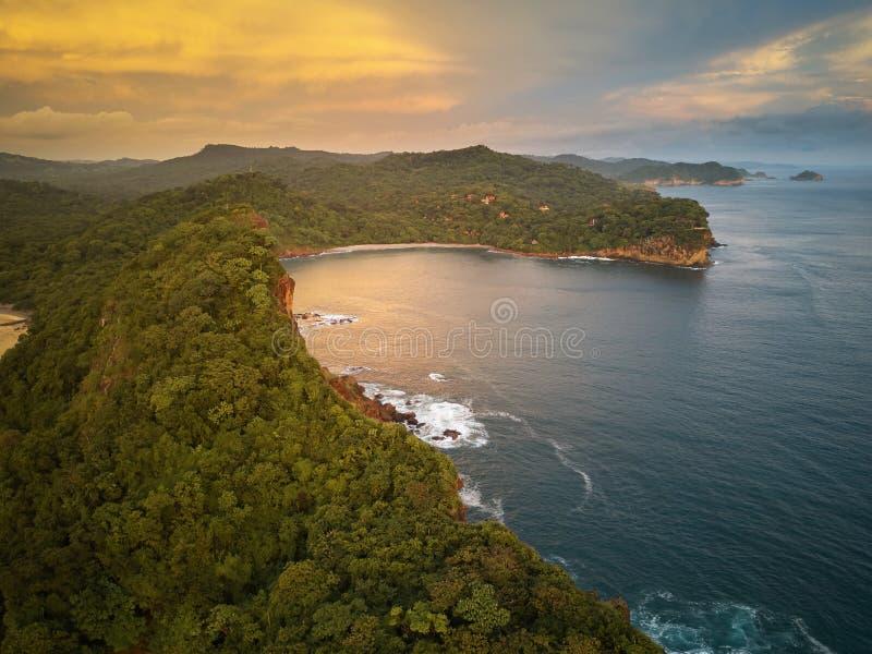 Natuurlijk zeegezicht in Nicaragua royalty-vrije stock fotografie