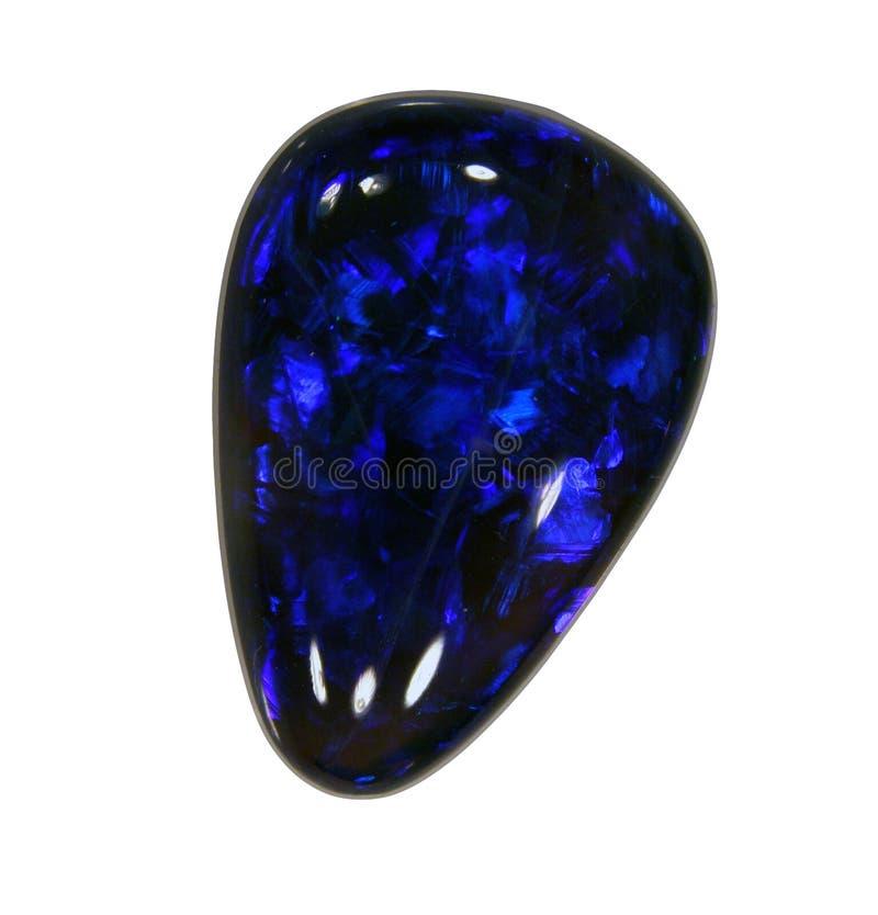 Natuurlijk zwart spel-van-kleur opaal royalty-vrije stock foto's