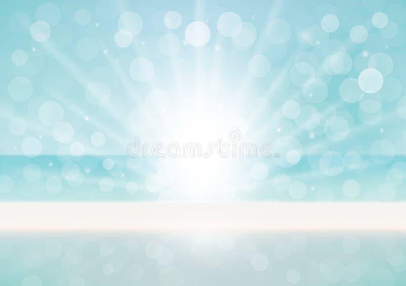 Natuurlijke achtergrond met bokeheffect vector illustratie