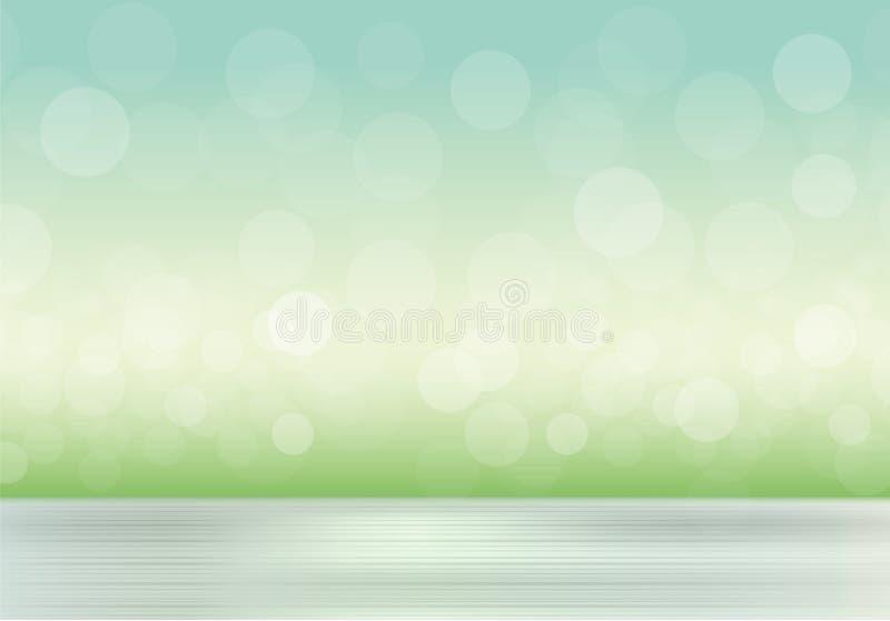 Natuurlijke achtergrond met vage gras en hemel vector illustratie