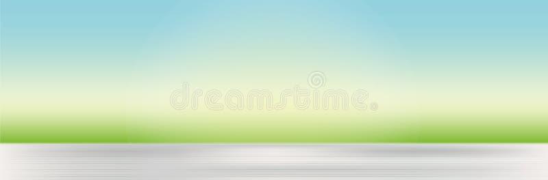 Natuurlijke achtergrond met vage gras en hemel royalty-vrije illustratie