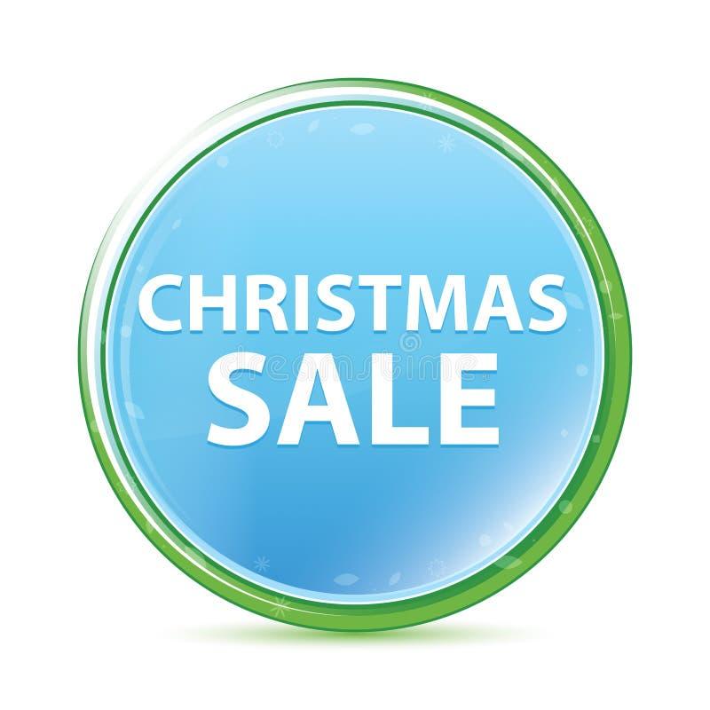 Natuurlijke aqua cyaan blauwe ronde knoop van de Kerstmisverkoop stock illustratie