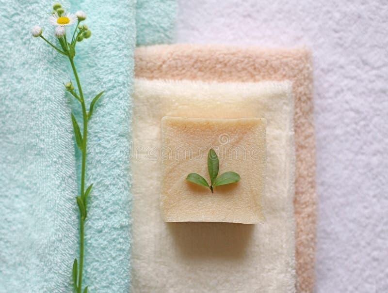 Natuurlijke badproducten royalty-vrije stock afbeeldingen