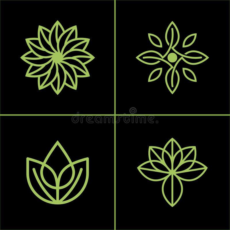 Natuurlijke Bladpictogram of Logo Vector Design For Your-Zaken stock illustratie