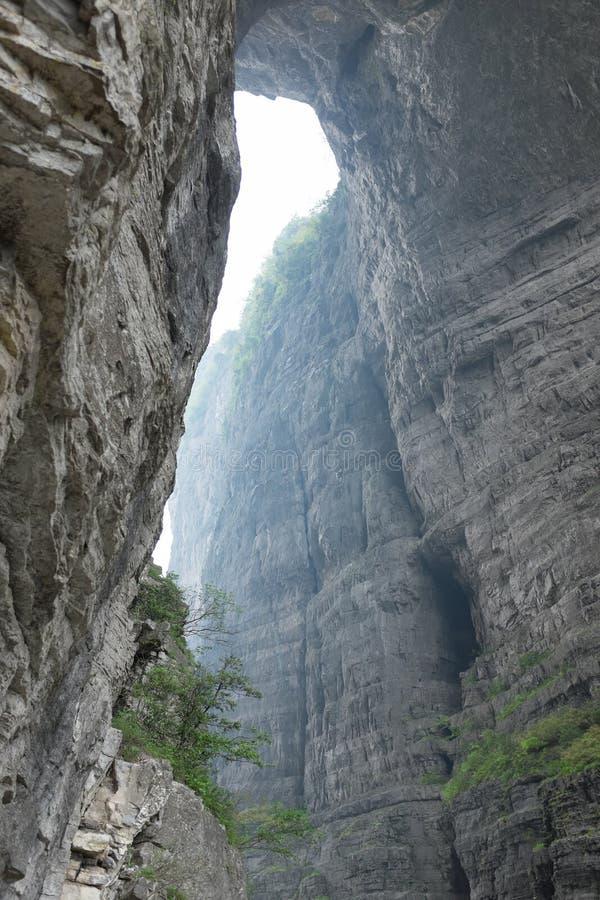 Natuurlijke boog in Tianmen-berg, China royalty-vrije stock foto