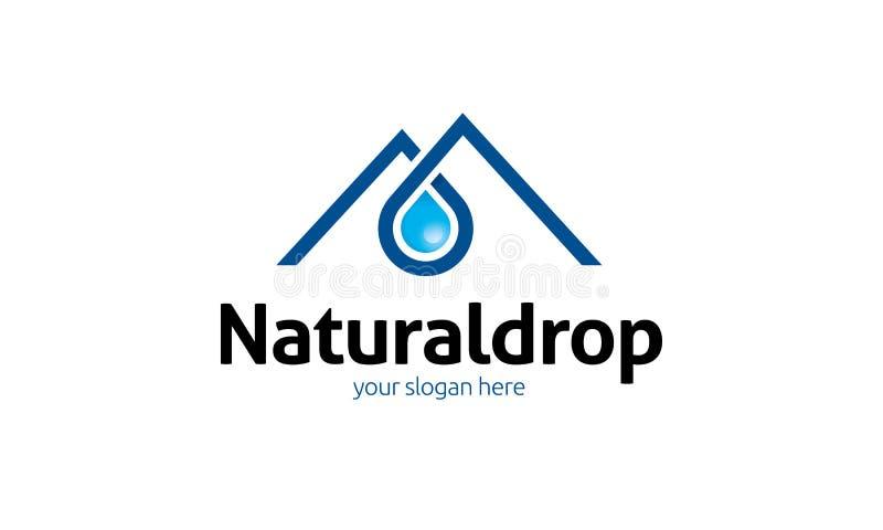 Natuurlijke Daling Logo Template vector illustratie