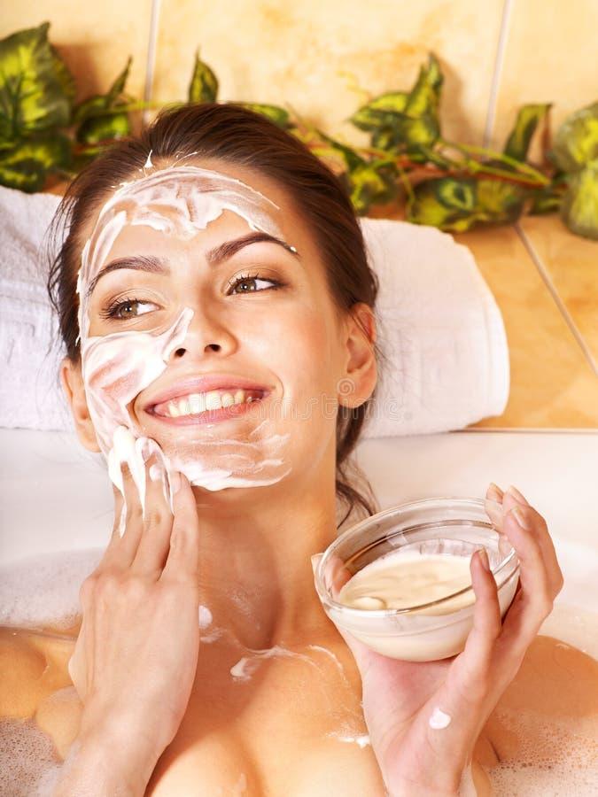Natuurlijke eigengemaakte gezichtsmaskers. stock foto