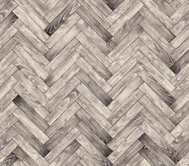 Natuurlijke eiken naadloze de vloertextuur van de parketvisgraat stock afbeelding