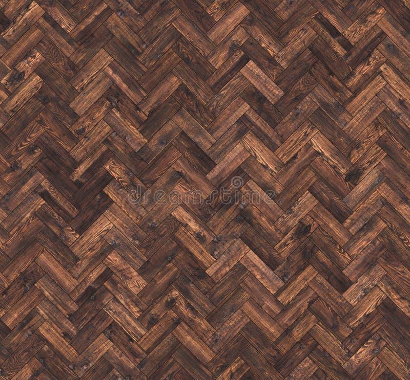 Natuurlijke eiken naadloze de vloertextuur van de parketvisgraat royalty-vrije stock afbeelding