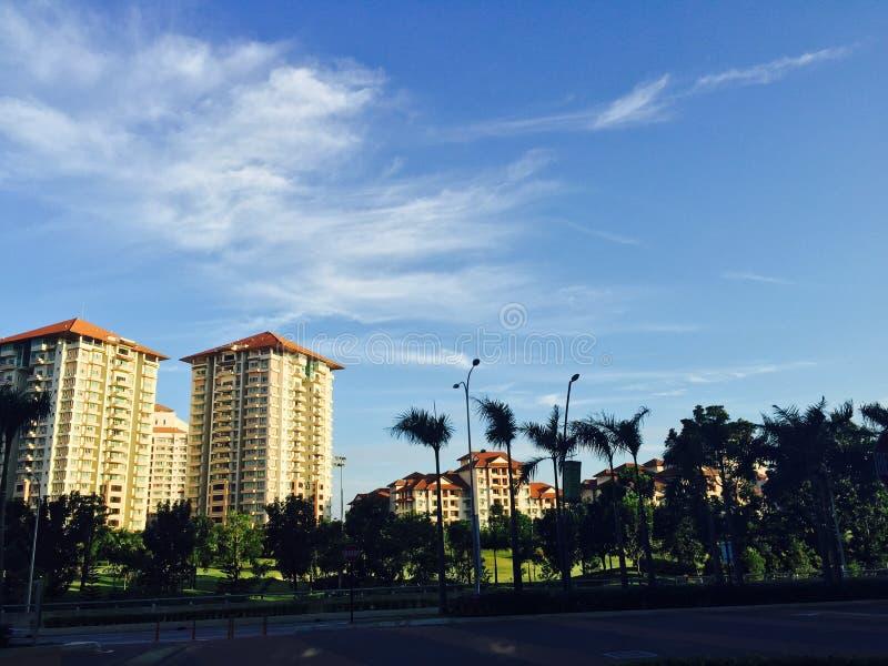 Natuurlijke en blauwe hemel stock foto's