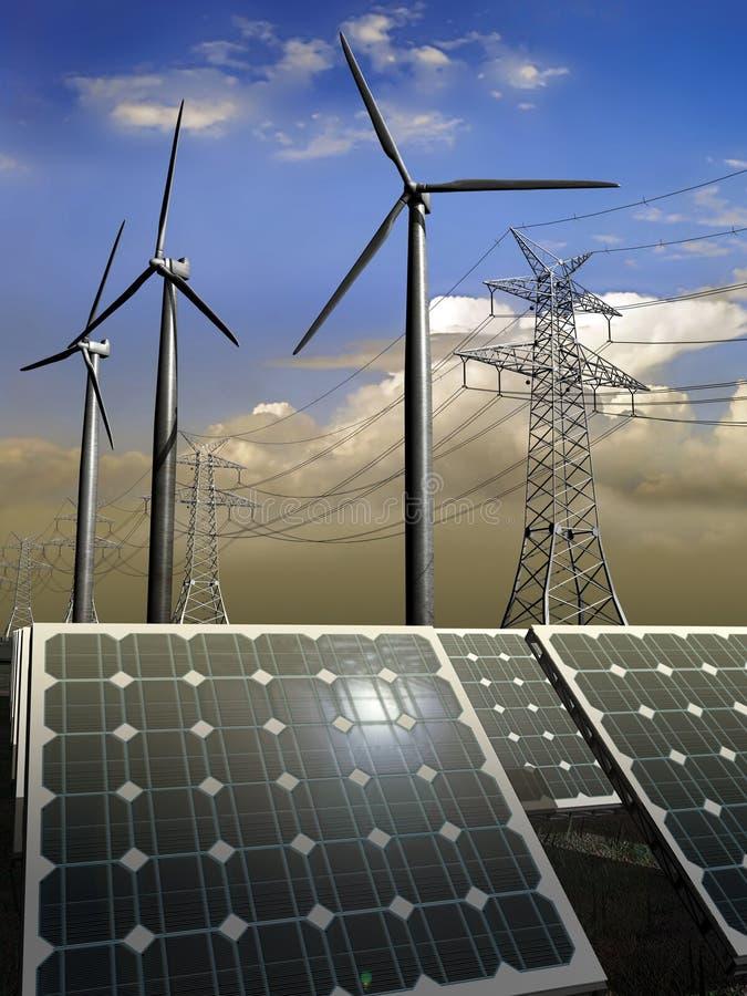 Natuurlijke energieën stock illustratie