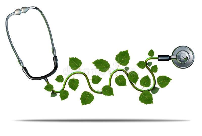 Natuurlijke geneeskunde royalty-vrije illustratie