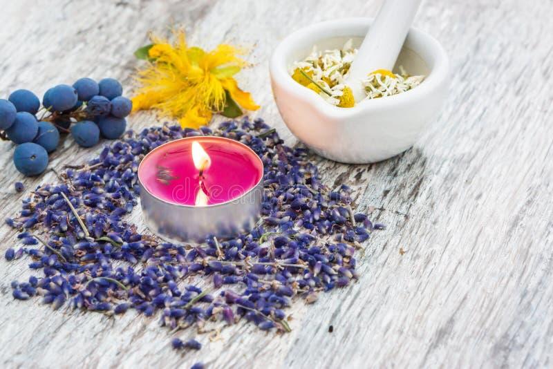 Natuurlijke geneeskunde, natuurlijke schoonheidsmiddelen royalty-vrije stock afbeelding