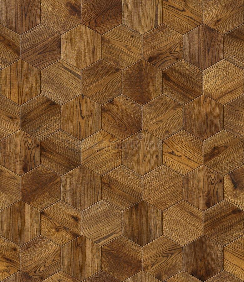 Natuurlijke houten honingraat als achtergrond, grunge het ontwerp naadloze textuur van de parketbevloering royalty-vrije stock afbeeldingen