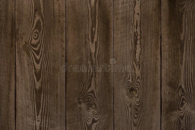 Natuurlijke houten raadstextuur van donkere bruine kleur royalty-vrije stock afbeelding