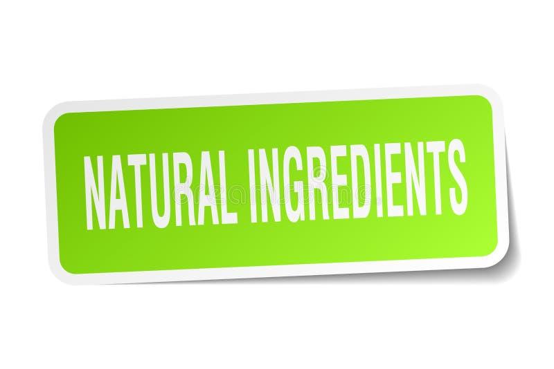 Natuurlijke ingrediënten vierkante sticker stock illustratie