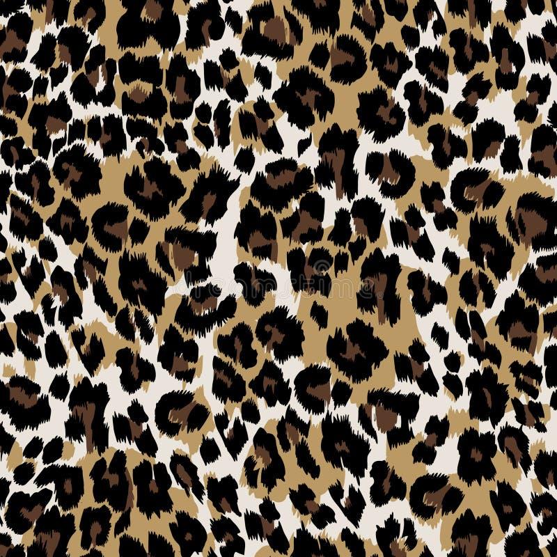Natuurlijke luipaardhuid stock illustratie