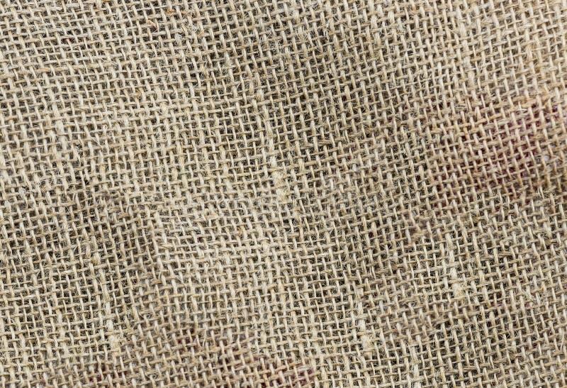 Natuurlijke materiële de stijldecoratie van stoffen homespun bruine eco royalty-vrije stock foto