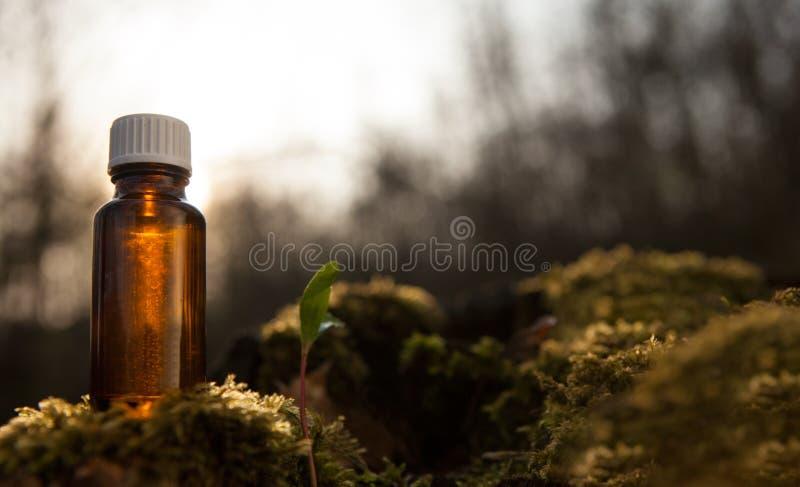 Natuurlijke olie - alternatieve geneeskunde stock foto
