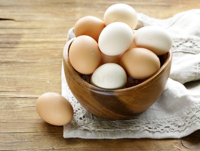Natuurlijke organische eieren royalty-vrije stock afbeeldingen