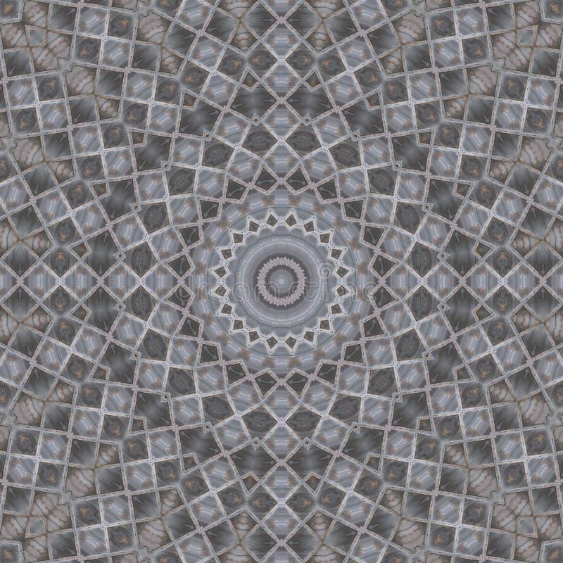 Natuurlijke oude houten de stralenfoto van de plank geometrische gekruiste ster seamle stock afbeelding