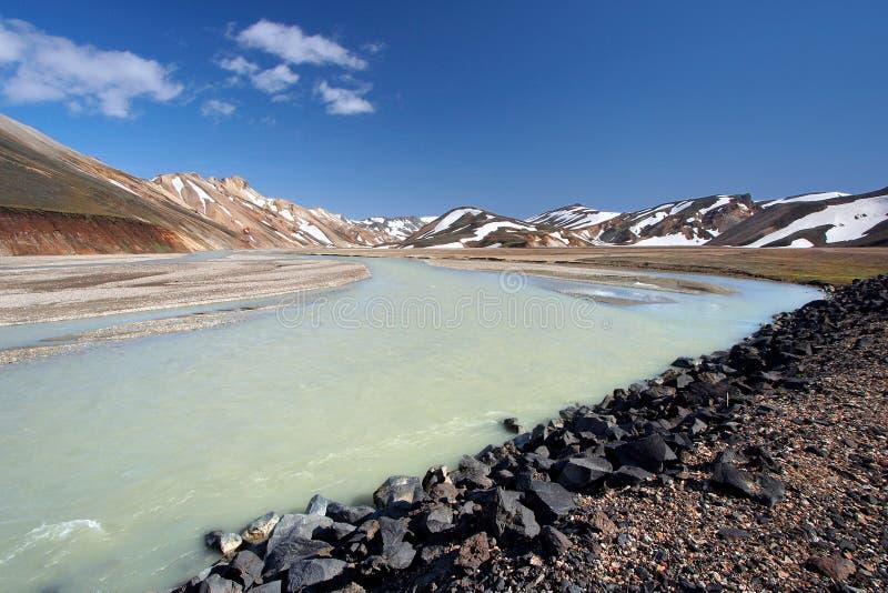 Natuurlijke reservate_Landmannalaugar van Fjallabak royalty-vrije stock foto's
