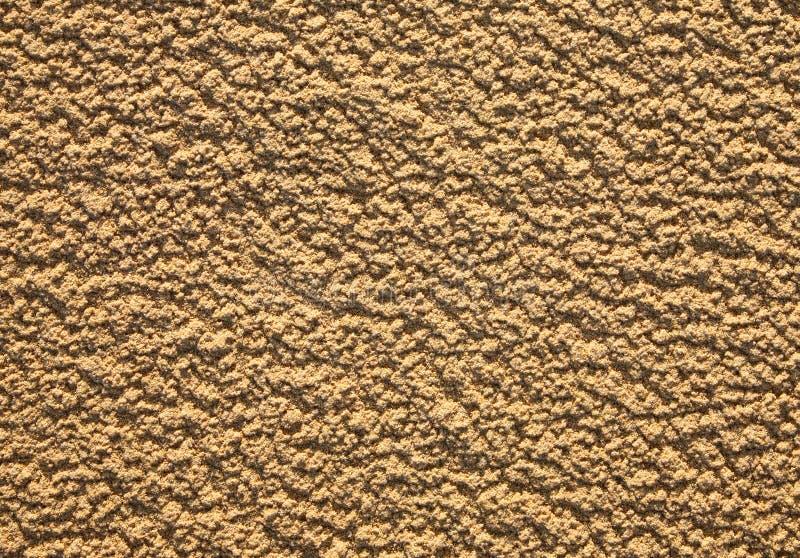 Natuurlijke ruwe zandtextuur. royalty-vrije stock afbeelding
