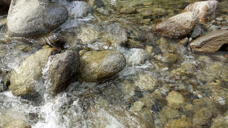 Natuurlijke scène van riverflow royalty-vrije stock foto's