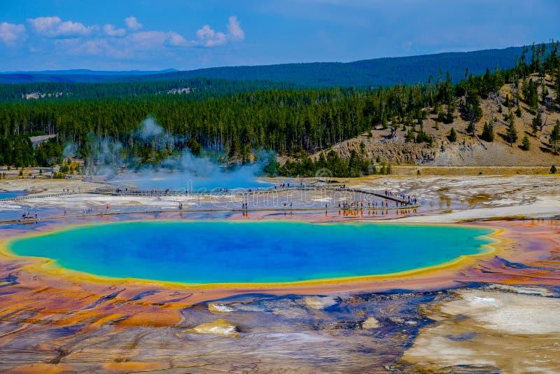 Natuurlijke Schoonheid en Patronen van de Grote Prismatische Lente, Yellowstone NP stock fotografie