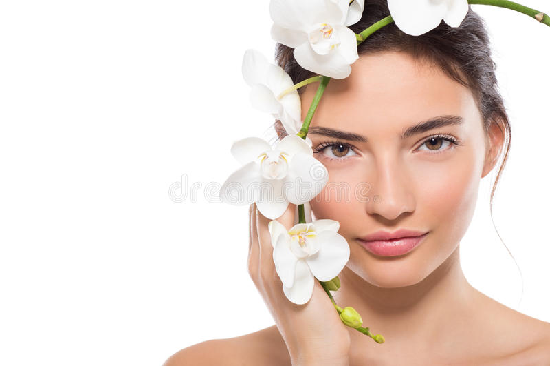 Natuurlijke schoonheid met bloem stock foto's