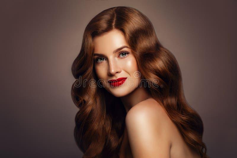 Natuurlijke Schoonheid Mooie redhead vrouw royalty-vrije stock afbeeldingen