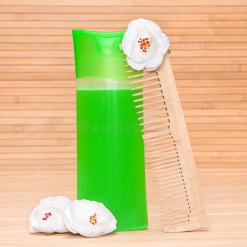 Natuurlijke shampoo royalty-vrije stock foto