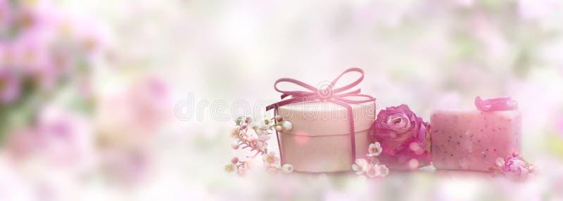 Natuurlijke skincare organische zeep royalty-vrije stock afbeeldingen