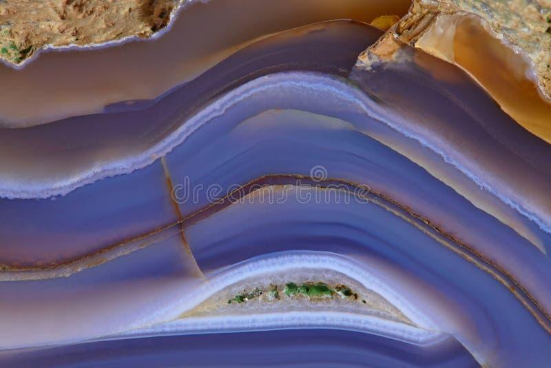 Natuurlijke textuur van agaat Gestreepte achtergrond stock fotografie