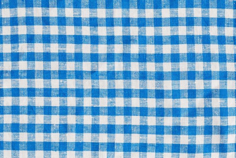 Natuurlijke van de Achtergrond plaidstof Abstracte Textuur, Blauw en Wit royalty-vrije stock foto