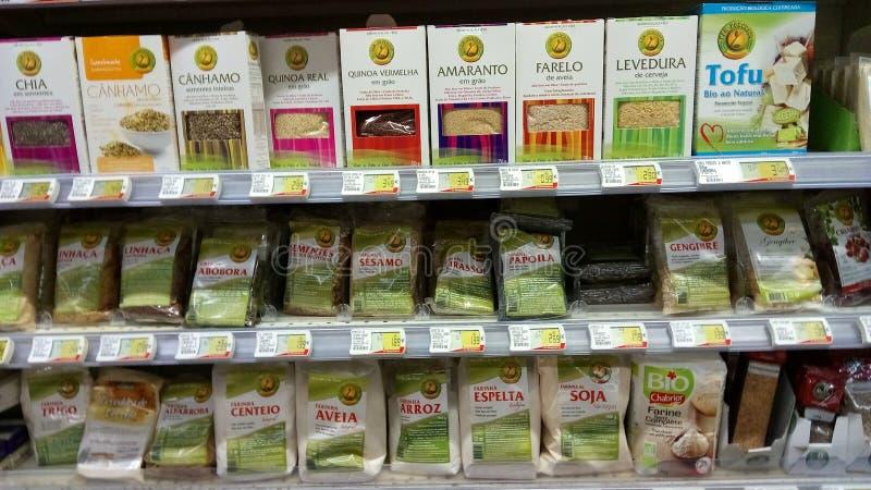 Natuurlijke voedingproducten stock afbeeldingen