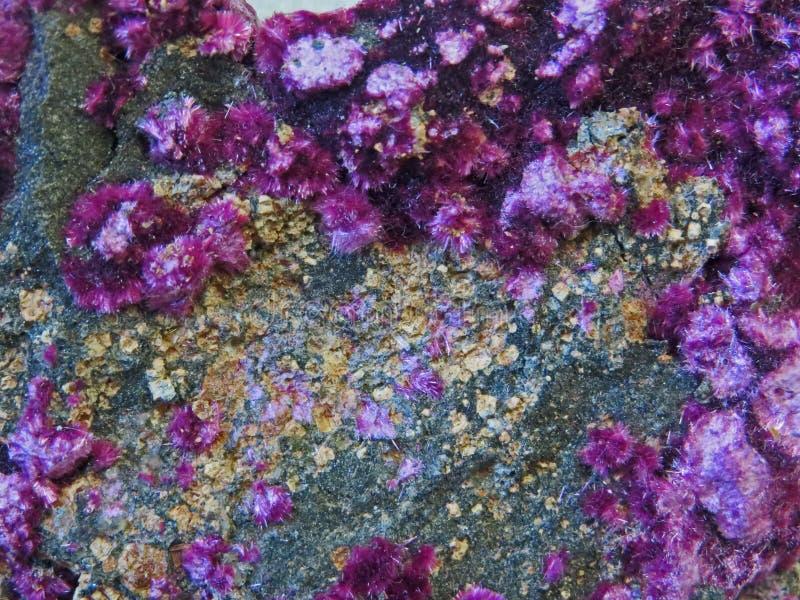 Natuurlijke vormen Mineralen en halfedelstenentexturen en achtergronden stock fotografie
