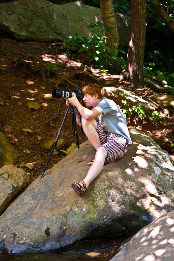 Natuurlijke Waterval in Nationaal Park stock fotografie