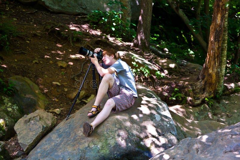 Natuurlijke Waterval in Nationaal Park royalty-vrije stock afbeelding