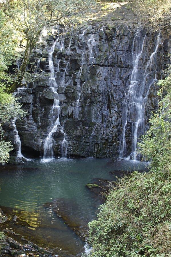 Natuurlijke waterval Shillong India elefenta valt stock afbeeldingen