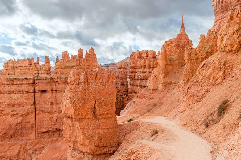 Natuurlijke weg in Bryce Canyon National Park in Utah, de V.S. royalty-vrije stock afbeeldingen