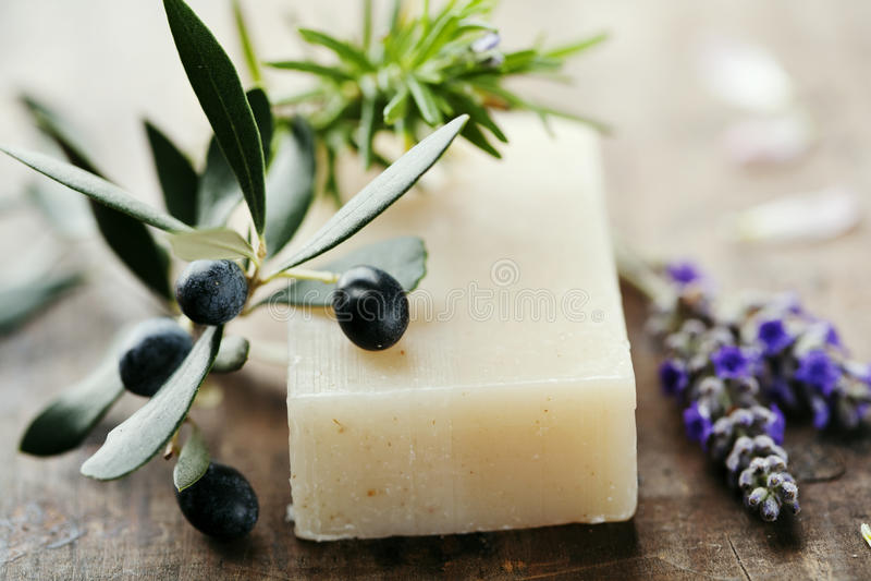 Natuurlijke zeep royalty-vrije stock afbeelding