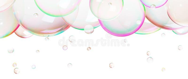 Natuurlijke zeepbels royalty-vrije stock foto