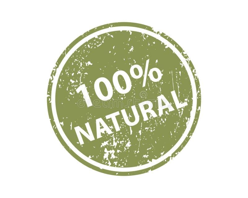 Natuurlijke zegel vectortextuur Rubberclicheafdruk Web of het element van het drukontwerp voor teken, sticker, etiket royalty-vrije illustratie