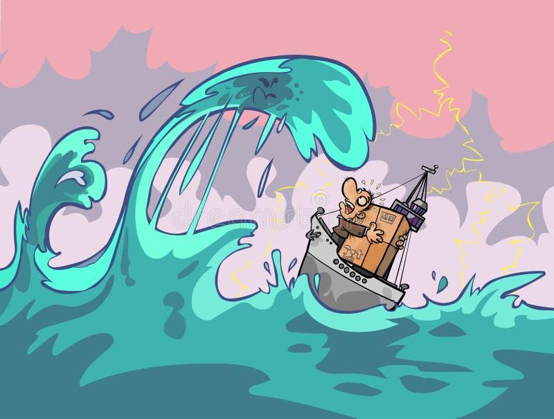 Natuurrampen vector illustratie