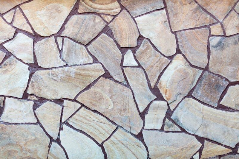 Natuursteenblok het bedekken textuur De achtergrond van de bouw royalty-vrije stock fotografie