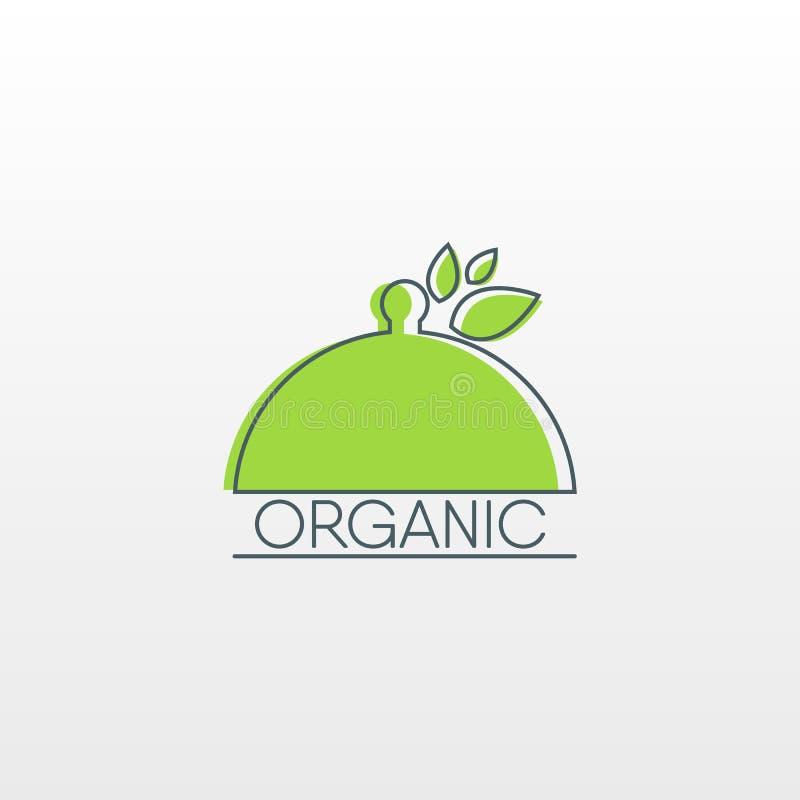Natuurvoedingembleem Gezond voedselpictogram stock illustratie