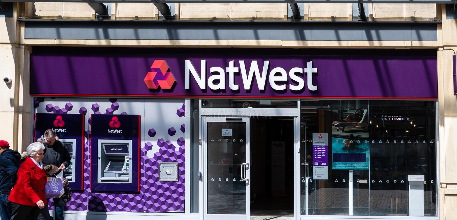 NatWest bank Frontage royalty free stock images