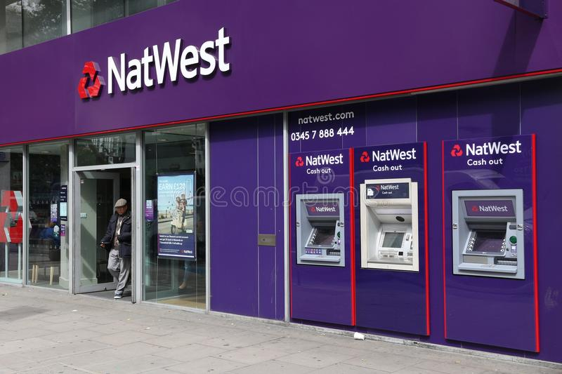 NatWest Bank royalty free stock images